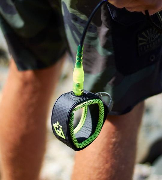 PRO 6 : BLACK LIME | CREATURES OF LEISURE | Surfboard Leashes South Africa online surf store -4